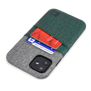 Luxe M2 Wallet Case iPhone Case Dockem iPhone 11 Dark Green and Grey Yes