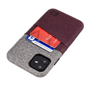 Luxe M2 Wallet Case iPhone Case Dockem iPhone 11 Maroon and Grey Yes