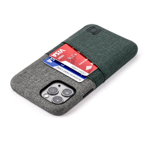 Luxe M2 Wallet Case iPhone Case Dockem iPhone 11 Pro Dark Green and Grey Yes