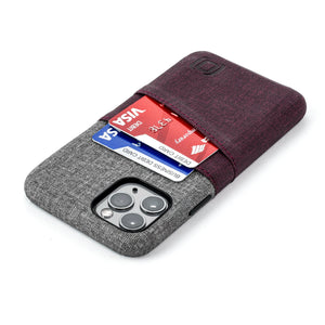 Luxe M2 Wallet Case iPhone Case Dockem iPhone 11 Pro Maroon and Grey Yes