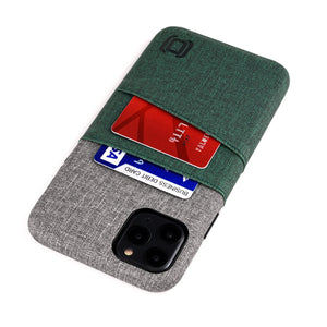 Luxe M2 Wallet Case iPhone Case Dockem iPhone 11 Pro Max Dark Green and Grey Yes