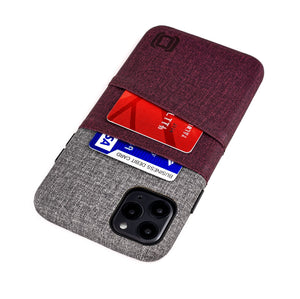 Luxe M2 Wallet Case iPhone Case Dockem iPhone 11 Pro Max Maroon and Grey Yes
