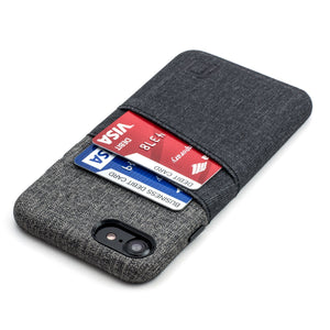 Luxe M2 Wallet Case iPhone Case Dockem iPhone 8 Black and Grey No