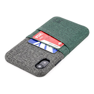 Luxe M2 Wallet Case iPhone Case Dockem iPhone XR Dark Green and Grey Yes