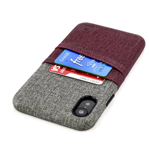Luxe M2 Wallet Case iPhone Case Dockem iPhone XR Maroon and Grey Yes
