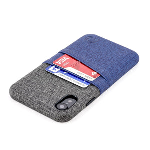Luxe M2 Wallet Case iPhone Case Dockem iPhone XR Navy and Grey Yes