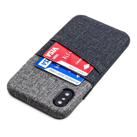 Luxe M2 Wallet Case iPhone Case Dockem iPhone 11 Pro Max Black and Grey Yes