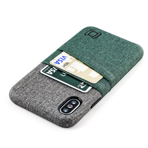 Luxe M2 Wallet Case iPhone Case Dockem iPhone XS Dark Green and Grey No
