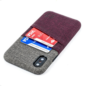 Luxe M2 Wallet Case iPhone Case Dockem iPhone XS Maroon and Grey Yes