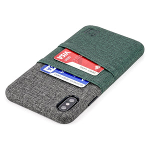 Luxe M2 Wallet Case iPhone Case Dockem iPhone XS Max Dark Green and Grey Yes