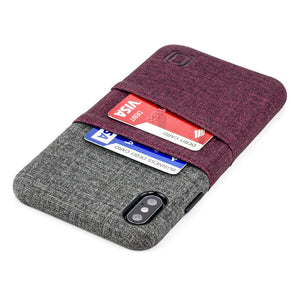 Luxe M2 Wallet Case iPhone Case Dockem iPhone XS Max Maroon and Grey Yes