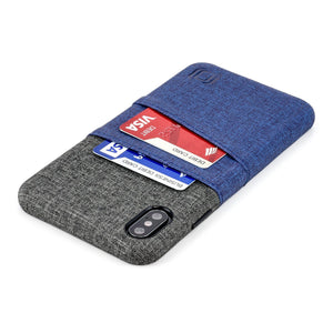 Luxe M2 Wallet Case iPhone Case Dockem iPhone XS Max Navy and Grey Yes