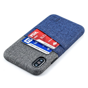 Luxe M2 Wallet Case iPhone Case Dockem iPhone XS Navy and Grey Yes