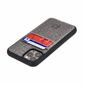 Luxe M2T Wallet Case with 2 Card Slots - iPhone iPhone Case Dockem iPhone 11 Pro Grey Luxe