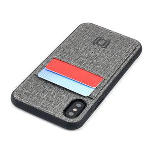Luxe M2T Wallet Case with 2 Card Slots - iPhone iPhone Case Dockem iPhone XS Grey Luxe