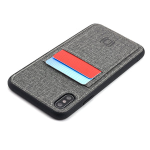 Luxe M2T Wallet Case with 2 Card Slots - iPhone iPhone Case Dockem iPhone XS Max Grey Luxe