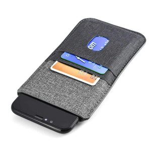 Luxe Wallet Sleeve 2.0 with 4 Card Slots - iPhones iPhone Sleeve Dockem