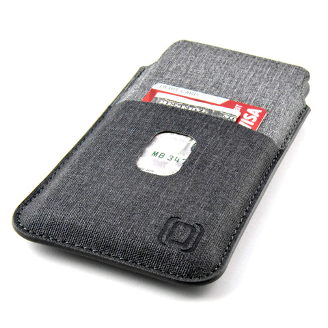 Luxe Wallet Sleeve with 2 Card Slots - iPhone X, XS, 11 Pro iPhone Sleeve Dockem iPhone X Black and Grey