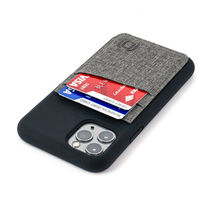 M2L Liquid Silicone Luxe Wallet Case iPhone Case Dockem iPhone 11 Pro Black and Grey Luxe
