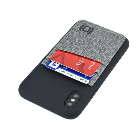 M2L Liquid Silicone Luxe Wallet Case iPhone Case Dockem iPhone 11 Pro Max Black and Grey Luxe