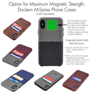 Minikin Magno Mount 3.0 Series: Minimalist Magnetic Wall and Car Mount with Adhesive Base Phone Mount Dockem