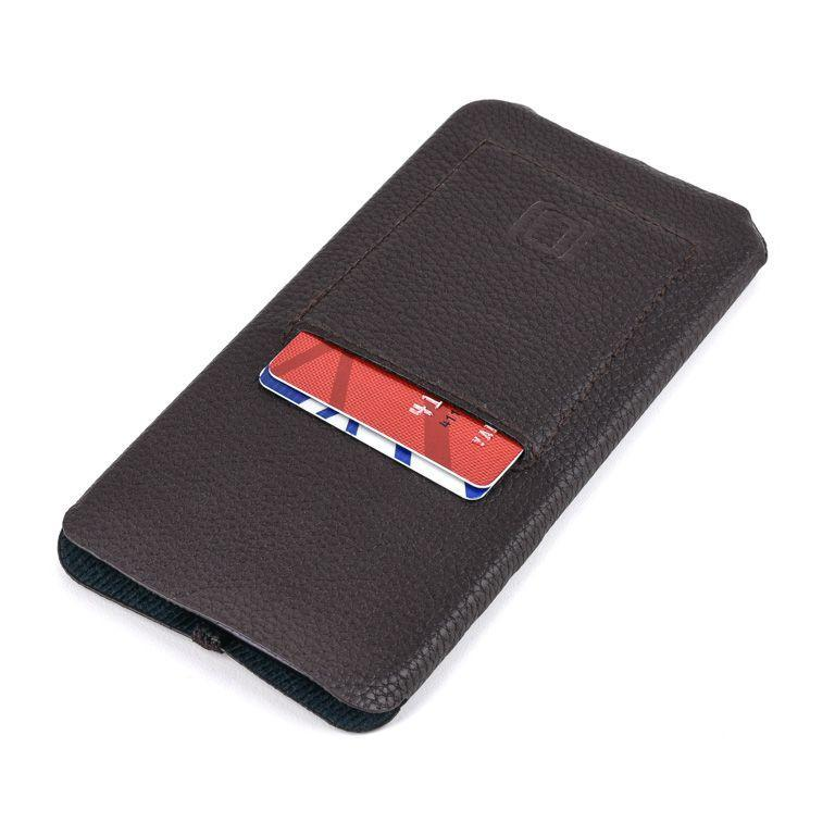 Minima Wallet Sleeve - Ultra Slim Synthetic/Vegan Leather Wallet Sleeve with Card Slot iPhone Sleeve Dockem iPhone 11 Pro