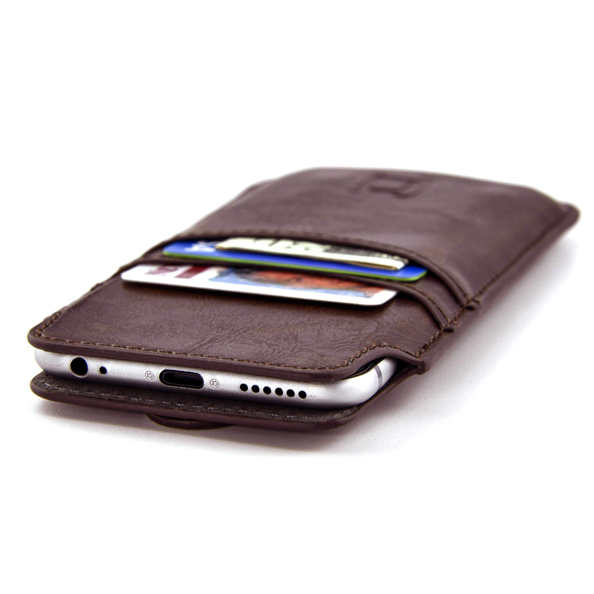 Provincial Wallet Sleeve with 2 Card Slots - iPhones iPhone Sleeve Dockem iPhone XS Max Vintage Brown