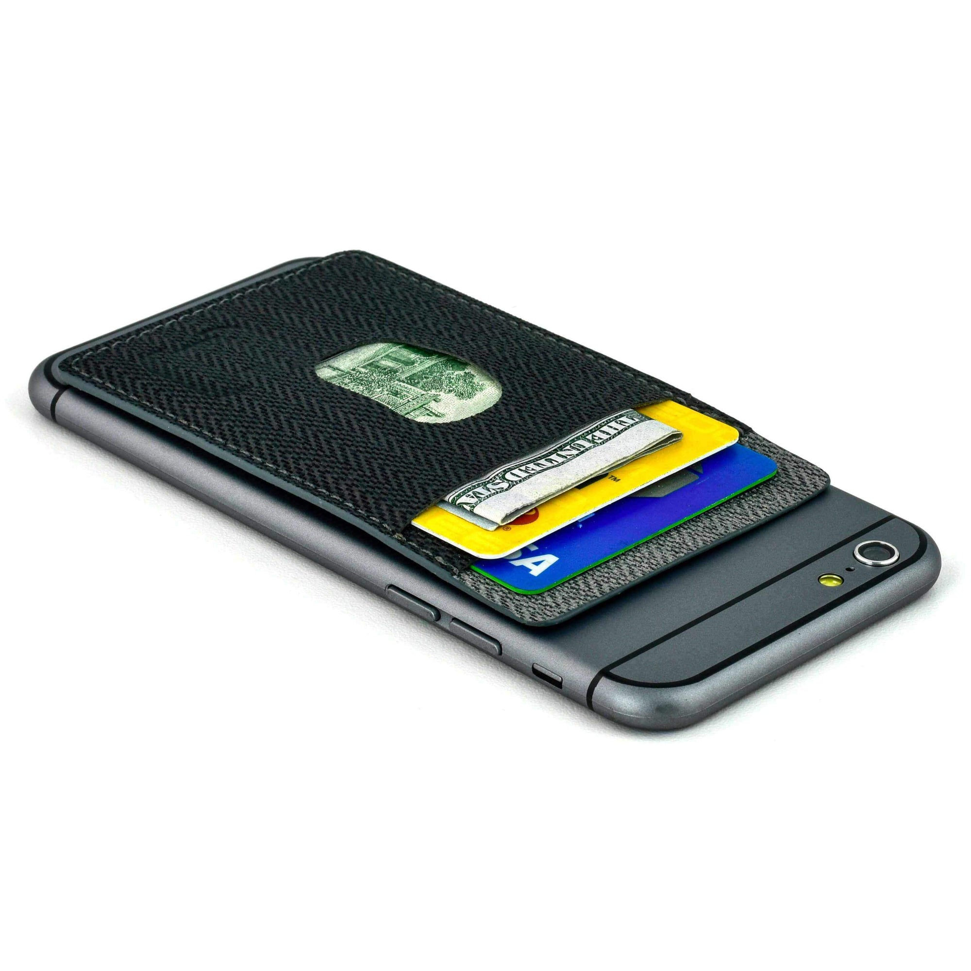 Removable Adhesive Synthetic Leather Wallet for Smartphones Accessories Dockem