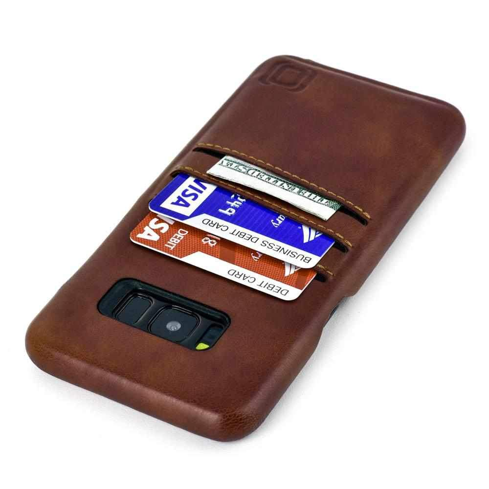 Slim Leather Wallet Case for Samsung Galaxy S8 & S8 Plus - Vintage Brown Samsung Case Dockem