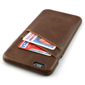 Synthetic Leather Shell Wallet Case for iPhones iPhone Case Dockem iPhone 6 Plus Vintage Brown