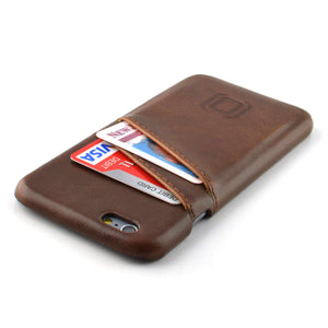 Synthetic Leather Shell Wallet Case for iPhones iPhone Case Dockem iPhone 6 Vintage Brown