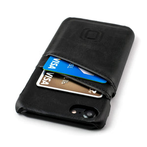 Synthetic Leather Shell Wallet Case for iPhones iPhone Case Dockem iPhone 8 Jet Black