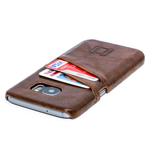 Synthetic Leather Wallet Case for Samsung Galaxy S7 & S7 Edge Samsung Case Dockem Galaxy S7 Vintage Brown