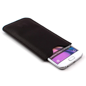 Ultra Slim Synthetic Leather Sleeve for Samsung Smartphones- Dark Brown Misc. Samsung Sleeve Dockem