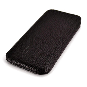 Ultra Slim Synthetic Leather Sleeve for Samsung Smartphones- Dark Brown Misc. Samsung Sleeve Dockem Galaxy S4