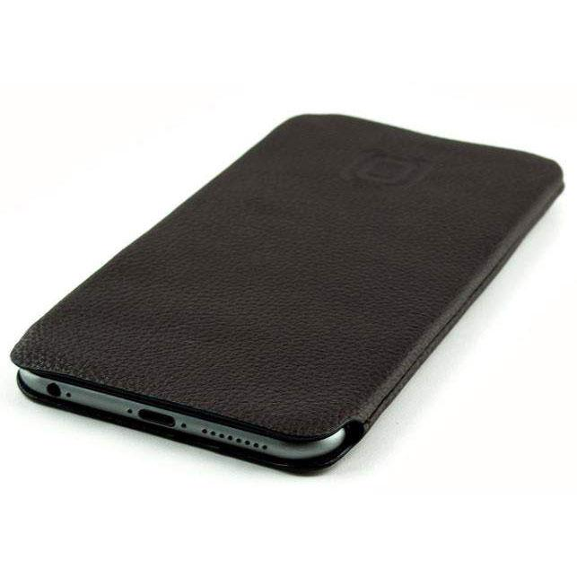 Ultra Slim Synthetic Leather Sleeve with Microfiber Lining for iPhone - Dark Brown iPhone Sleeve Dockem iPhone 8