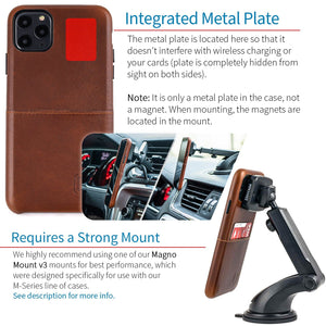 Virtuosa M1 Genuine Leather Card Case with 1 Lay-Flat Card Slot - iPhone iPhone Case Dockem
