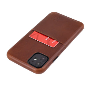 Virtuosa M1 Genuine Leather Card Case with 1 Lay-Flat Card Slot - iPhone iPhone Case Dockem iPhone 11 Brown Virtuosa