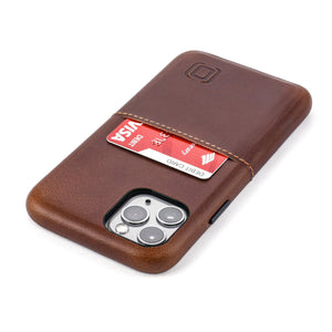 Virtuosa M1 Genuine Leather Card Case with 1 Lay-Flat Card Slot - iPhone iPhone Case Dockem iPhone 11 Pro Brown Virtuosa