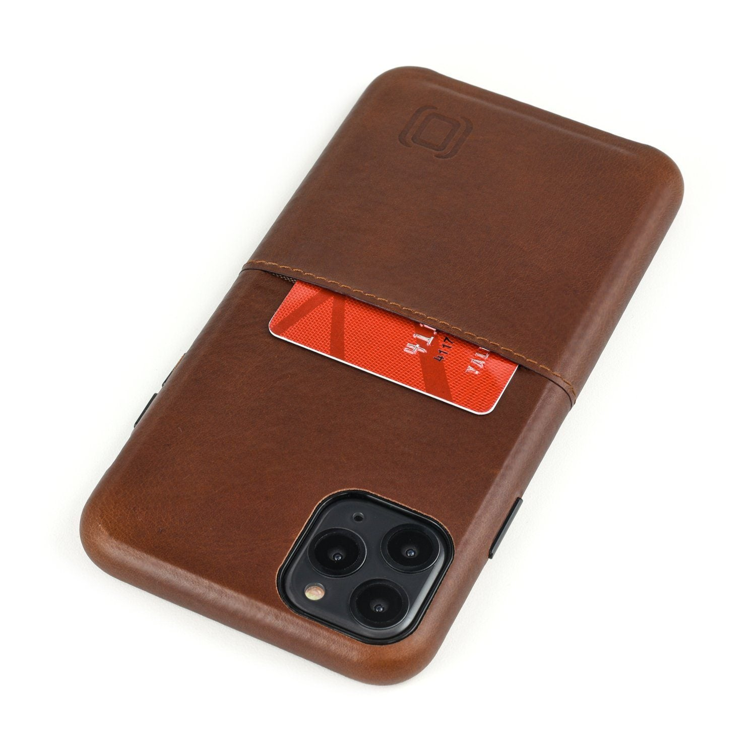 Virtuosa M1 Genuine Leather Card Case with 1 Lay-Flat Card Slot - iPhone iPhone Case Dockem iPhone 11 Pro Max Brown Virtuosa