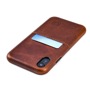 Virtuosa M1 Genuine Leather Card Case with 1 Lay-Flat Card Slot - iPhone iPhone Case Dockem iPhone XR Brown Virtuosa