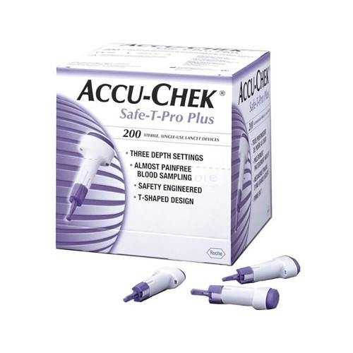 AccuChek Lancets Safe-T-Pro Plus - Box 200 - QureMed