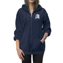 Load image into Gallery viewer, One Lucky Mom - Embroidered Unisex Zip Up Hoodie