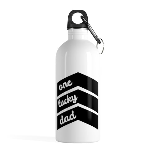 One Lucky Dad  - Stainless Steel Water Bottle