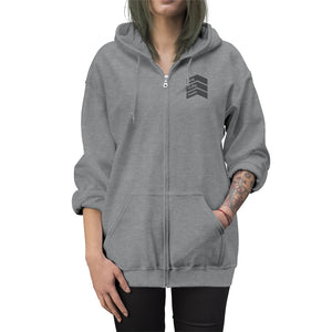One Lucky Mom - Embroidered Unisex Zip Up Hoodie