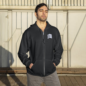One Lucky Dad - Embroidered Unisex Zip Up Hoodie