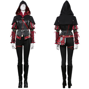 The Witcher 3 Coat Outfit Anna Henrietta Halloween Carnival Costume Cosplay Costume