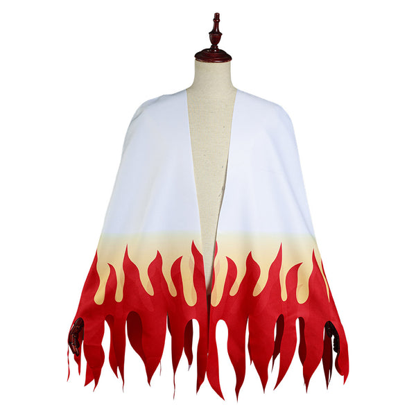 Demon Slayer: Kimetsu no Yaiba Adult Cloak Coat Rengoku Kyoujurou Halloween Carnival Suit Cosplay Costume