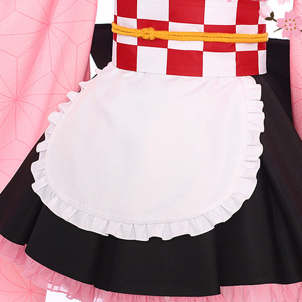 Demon Slayer Maid Outfit Kamado Nezuko Cosplay Costume