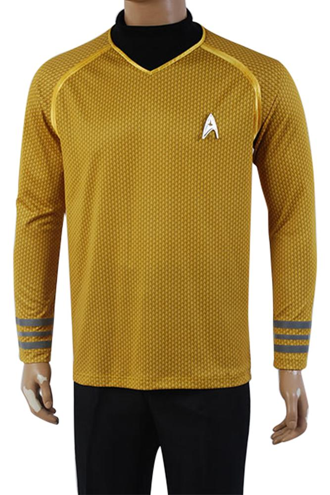 Star Trek Into Darkness Captain Spock Shirt Uniform Cosplay Costume Blue Yellow Red